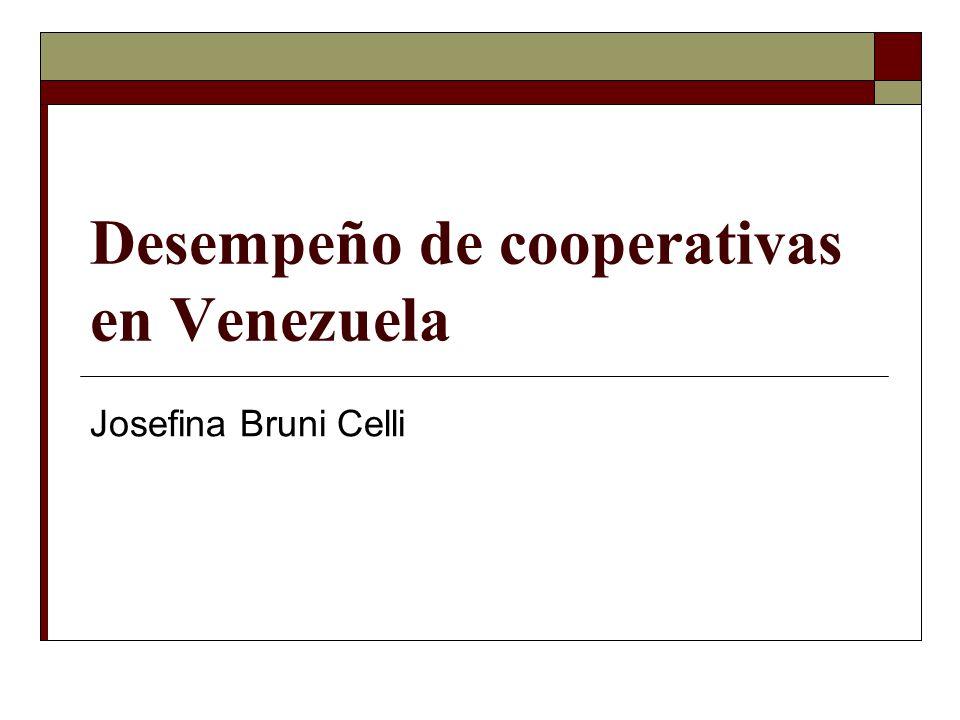 Desempeño de cooperativas en Venezuela