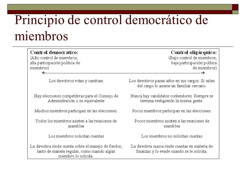 Principio de control democrático de miembros