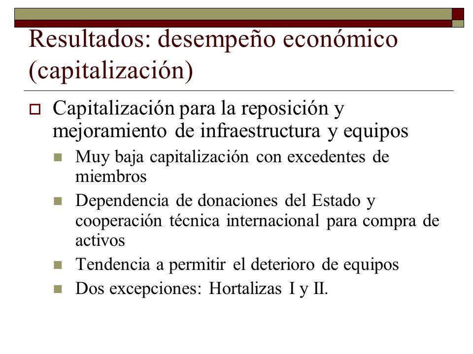 Resultados: desempeño económico (capitalización)