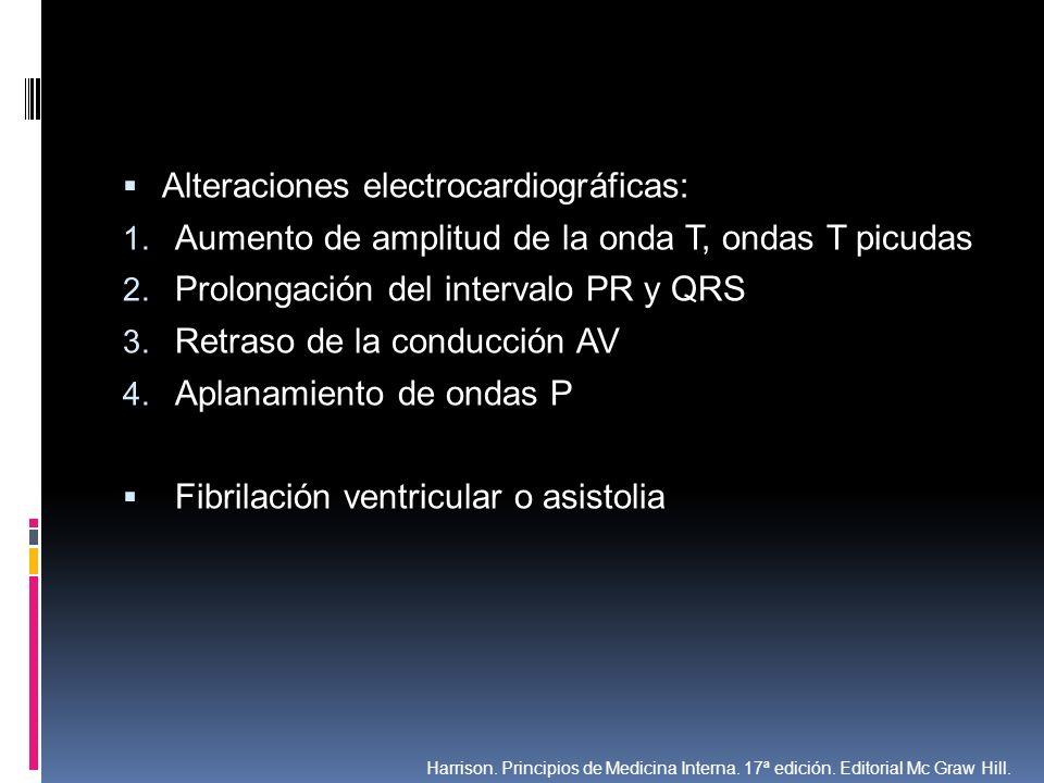 Alteraciones electrocardiográficas: