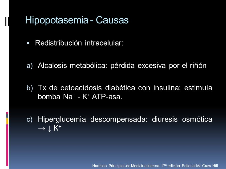 Hipopotasemia - Causas