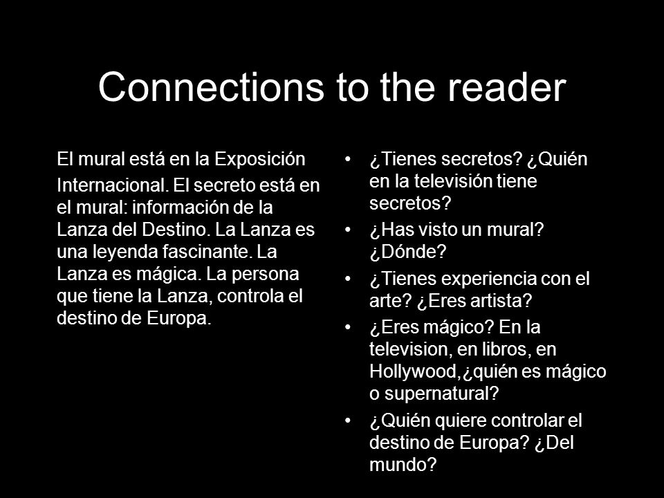 Connections to the reader