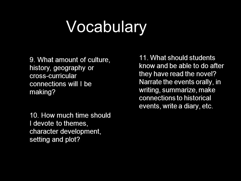 Vocabularyp. 70 1. Do I need to pre-teach vocabulary