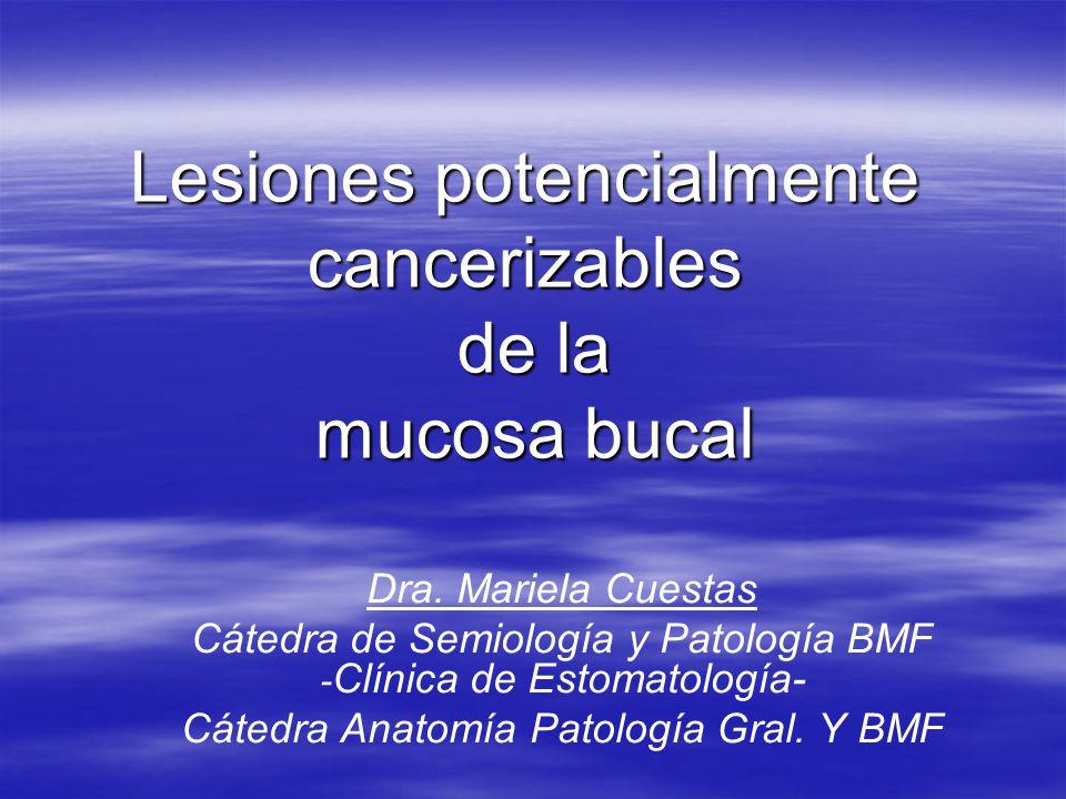 Lesiones potencialmente cancerizables de la mucosa bucal