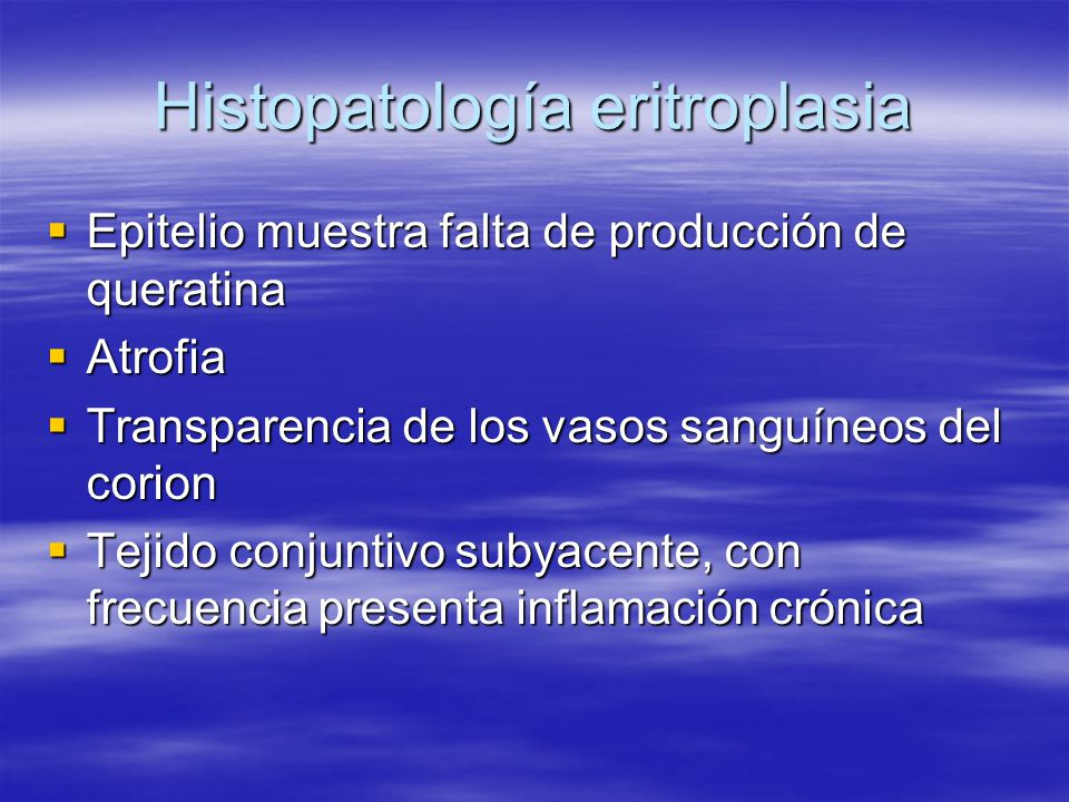 Histopatología eritroplasia