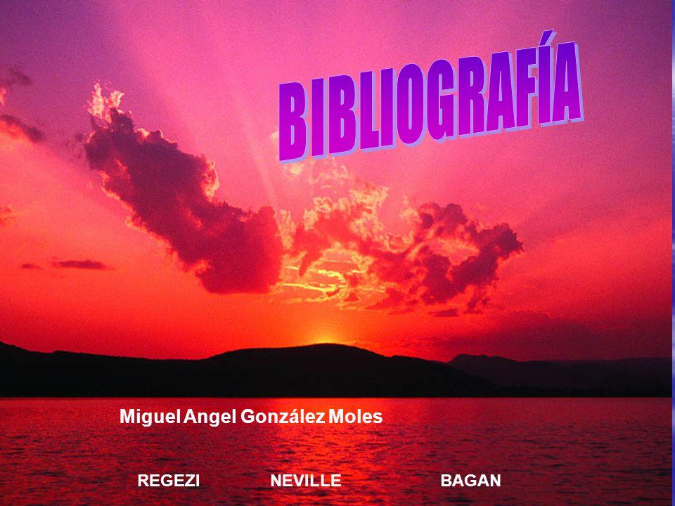 BIBLIOGRAFÍA Miguel Angel González Moles REGEZI NEVILLE BAGAN