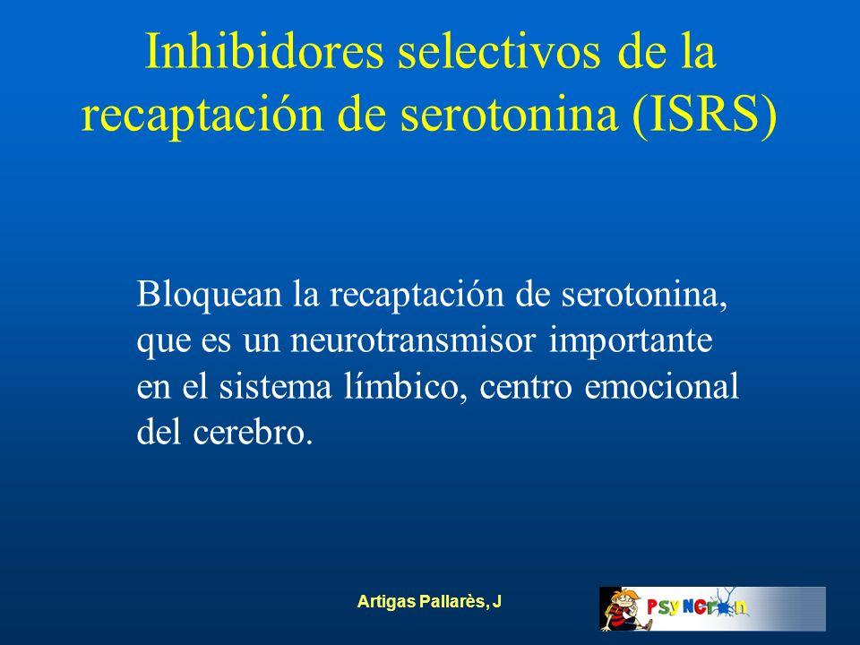 Inhibidores selectivos de la recaptación de serotonina (ISRS)