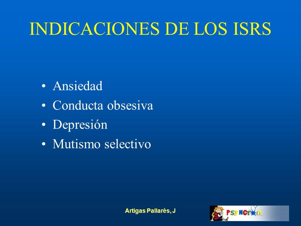 INDICACIONES DE LOS ISRS