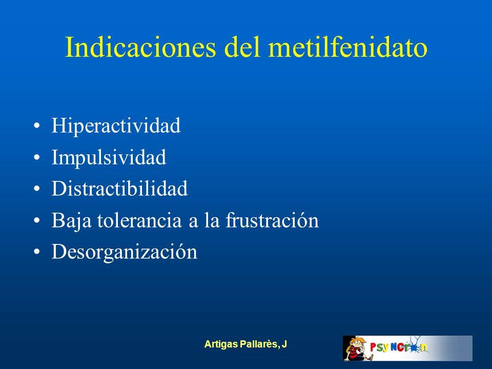 Indicaciones del metilfenidato