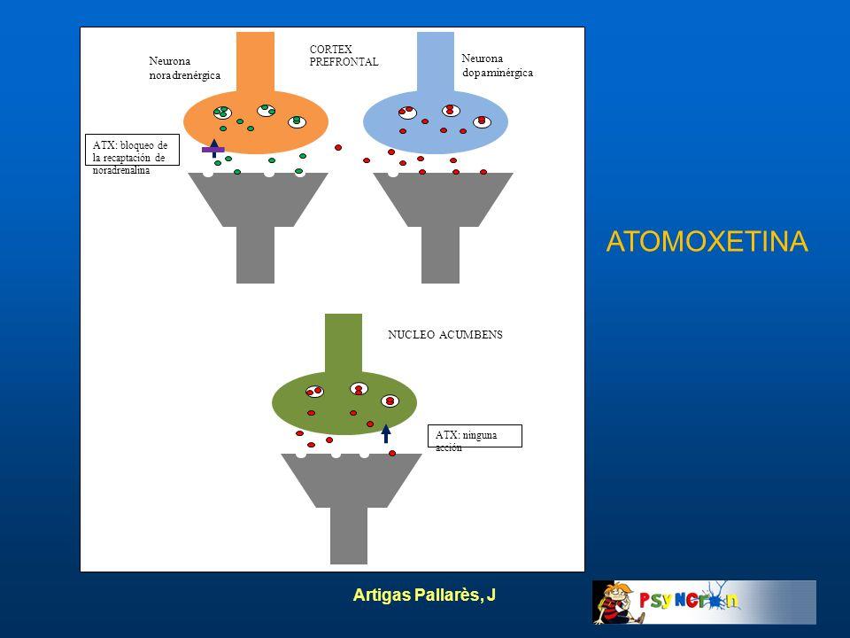 ATOMOXETINA Artigas Pallarès, J Neurona dopaminérgica