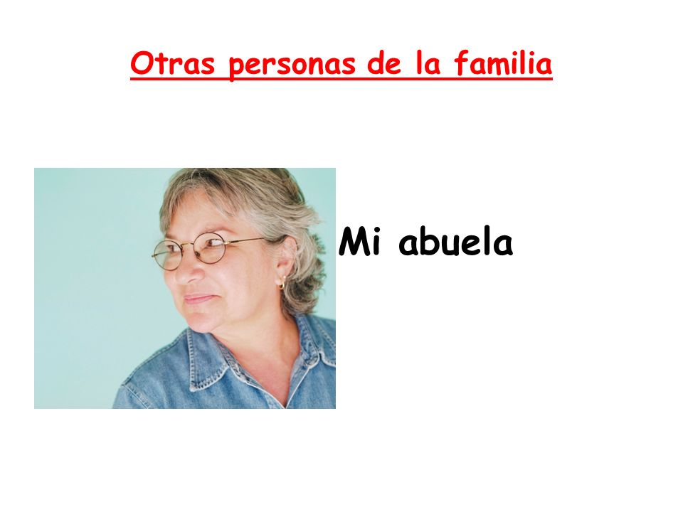 Otras personas de la familia
