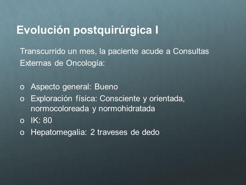Evolución postquirúrgica I