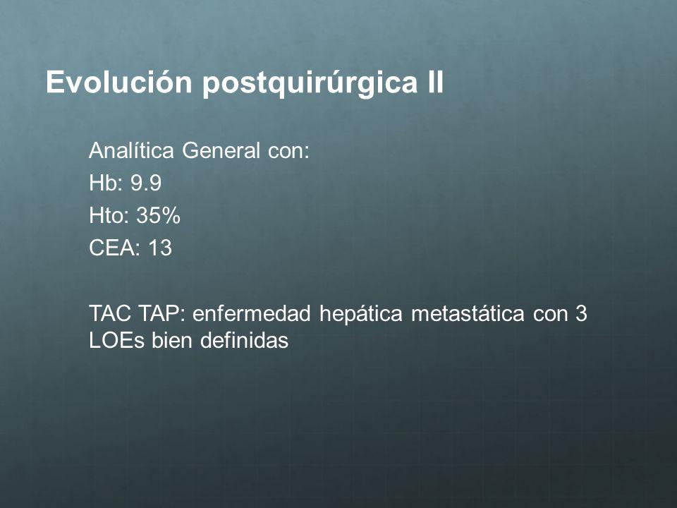 Evolución postquirúrgica II