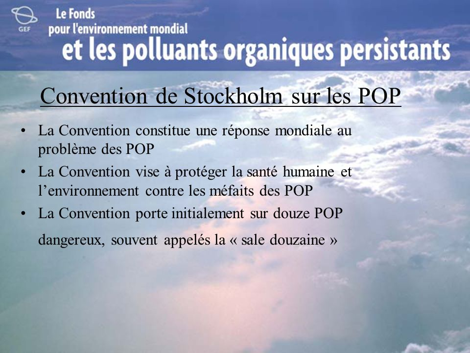 Convention de Stockholm sur les POP