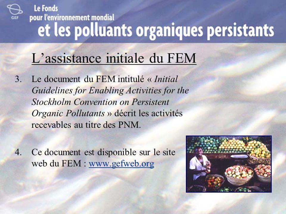 L'assistance initiale du FEM