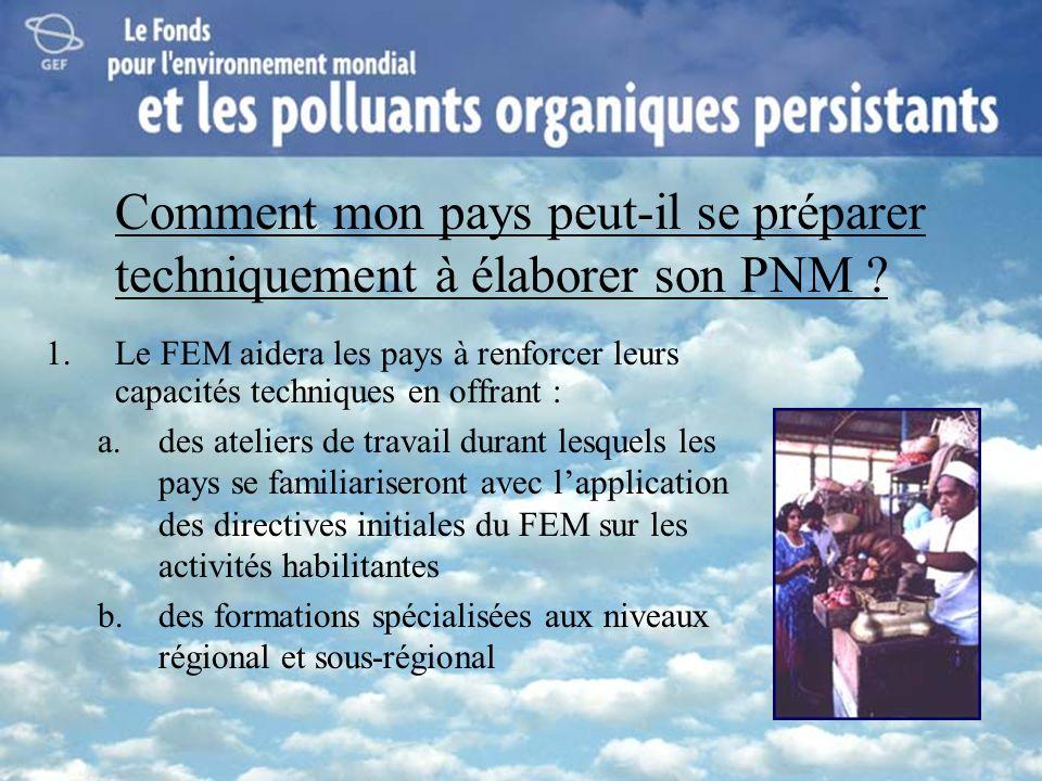 Comment mon pays peut-il se préparer techniquement à élaborer son PNM