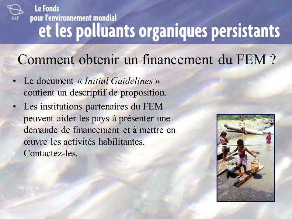 Comment obtenir un financement du FEM