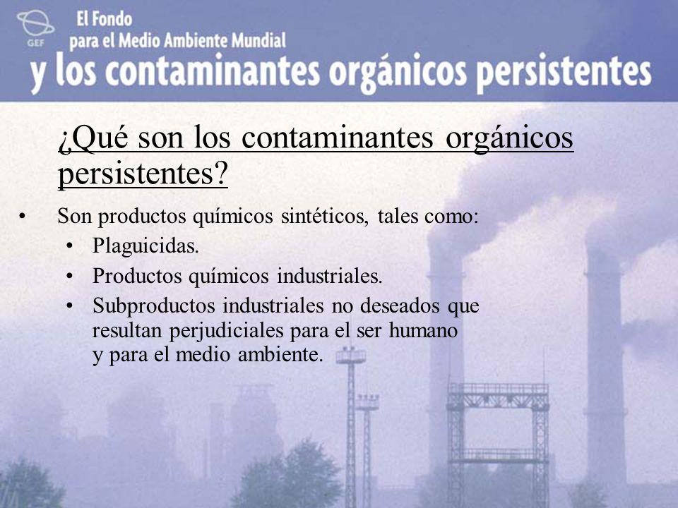 ¿Qué son los contaminantes orgánicos persistentes