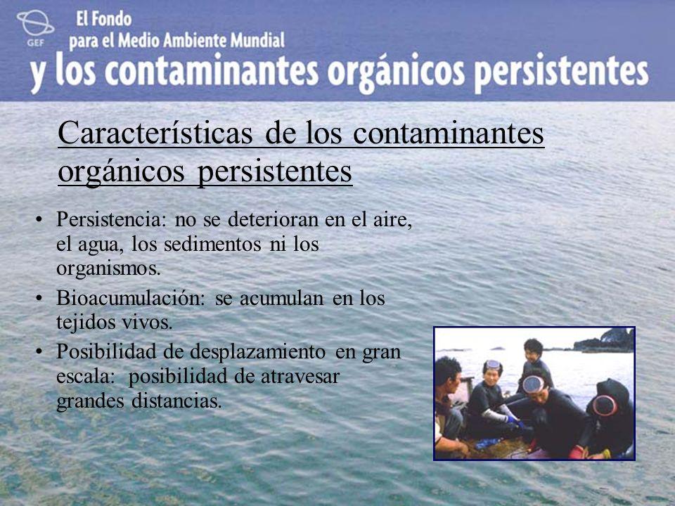 Características de los contaminantes orgánicos persistentes