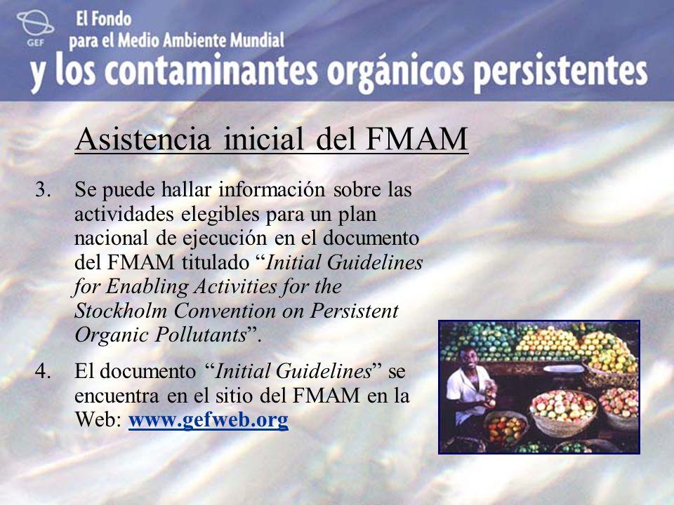 Asistencia inicial del FMAM