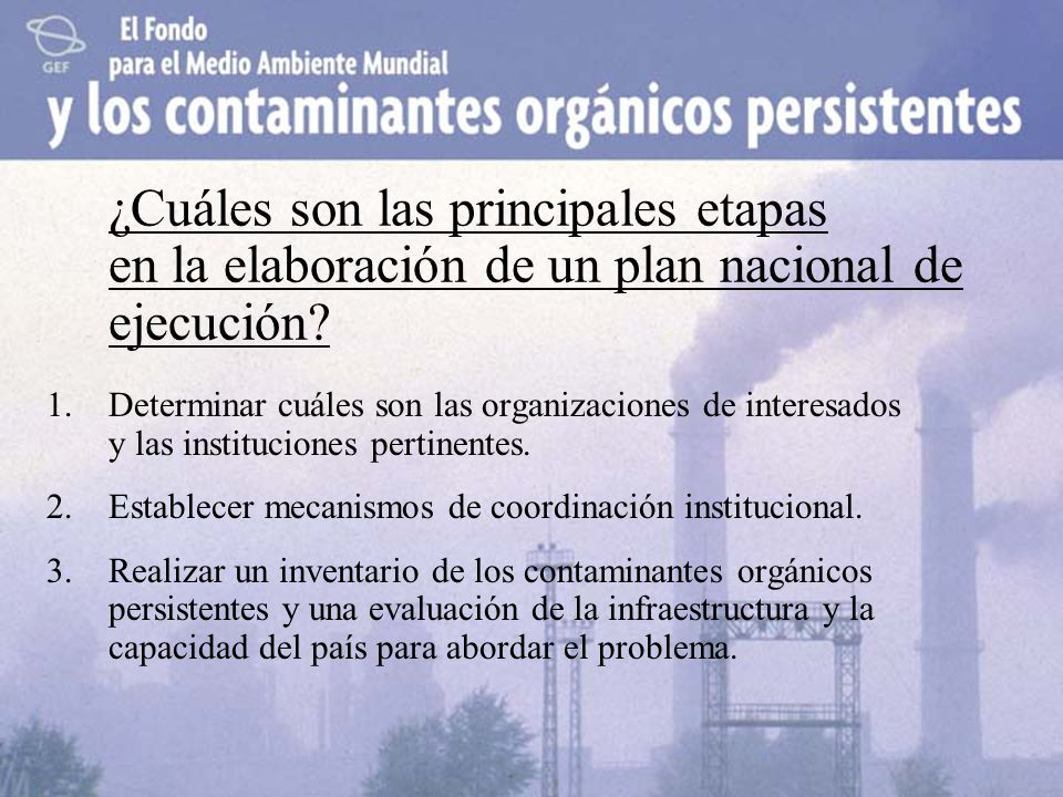 ¿Cuáles son las principales etapas en la elaboración de un plan nacional de ejecución