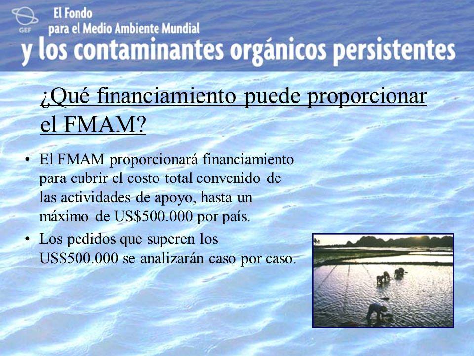¿Qué financiamiento puede proporcionar el FMAM
