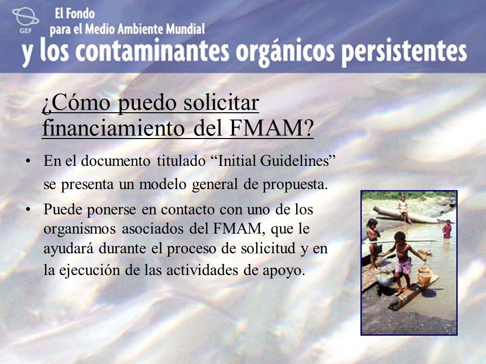 ¿Cómo puedo solicitar financiamiento del FMAM