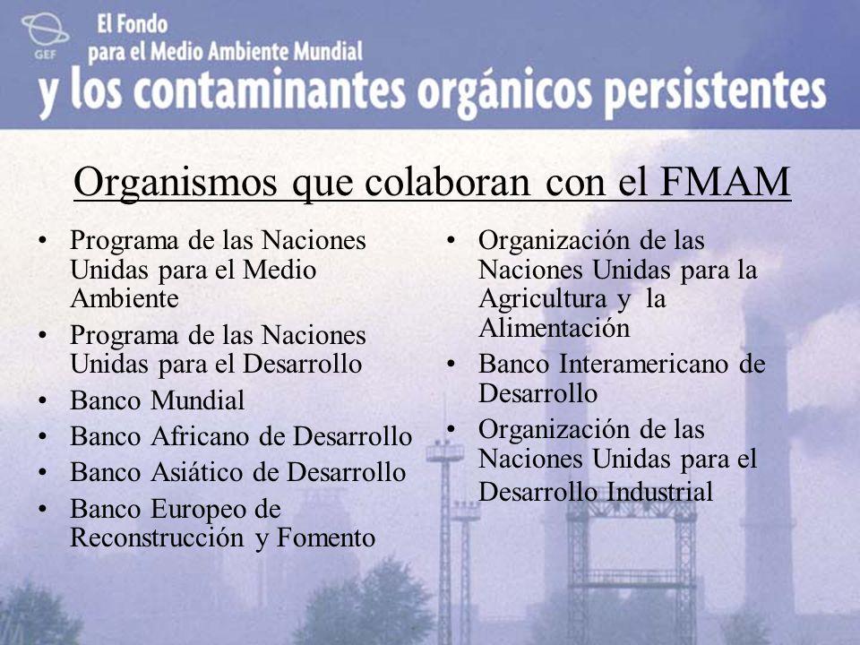 Organismos que colaboran con el FMAM