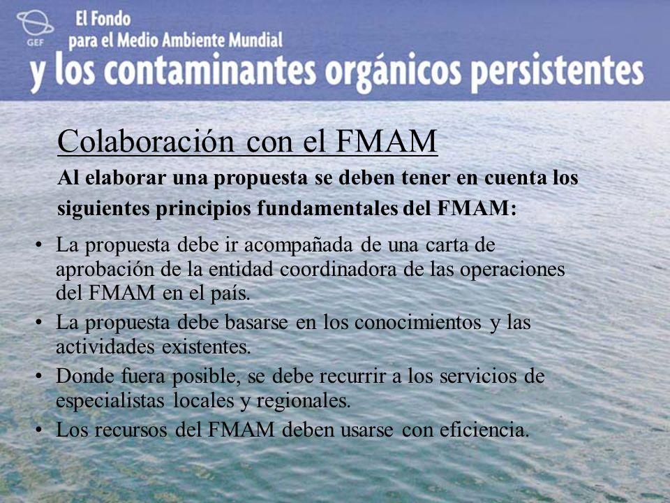 Colaboración con el FMAM