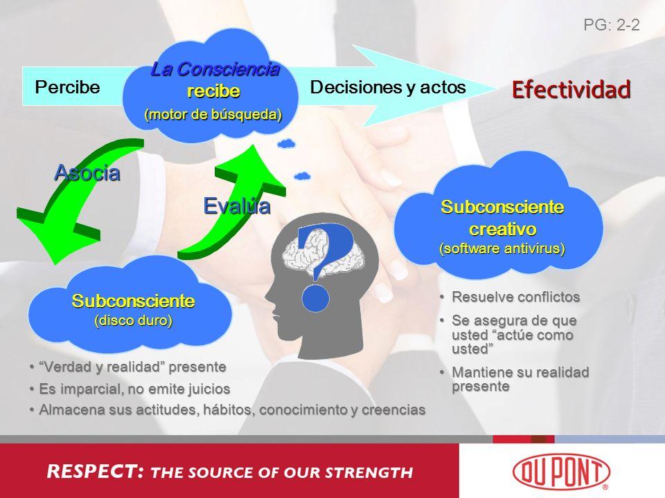 Efectividad Asocia Evalúa La Consciencia recibe (motor de búsqueda)