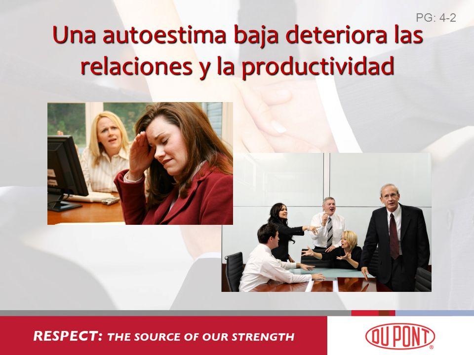 Una autoestima baja deteriora las relaciones y la productividad