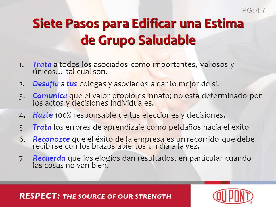 Siete Pasos para Edificar una Estima de Grupo Saludable