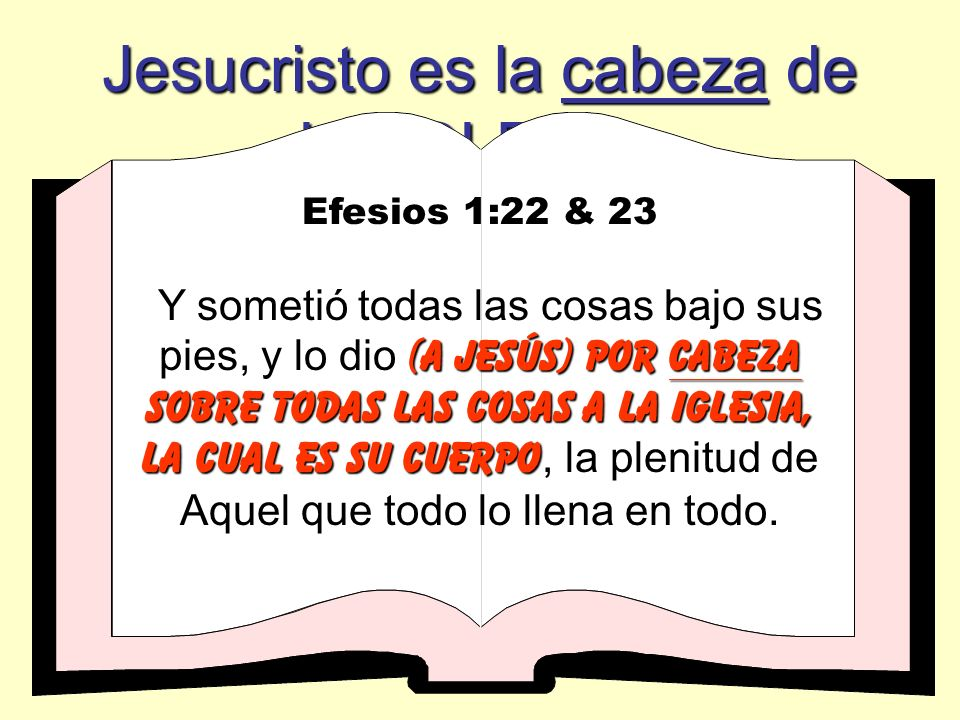 Jesucristo es la cabeza de LA IGLESIA: