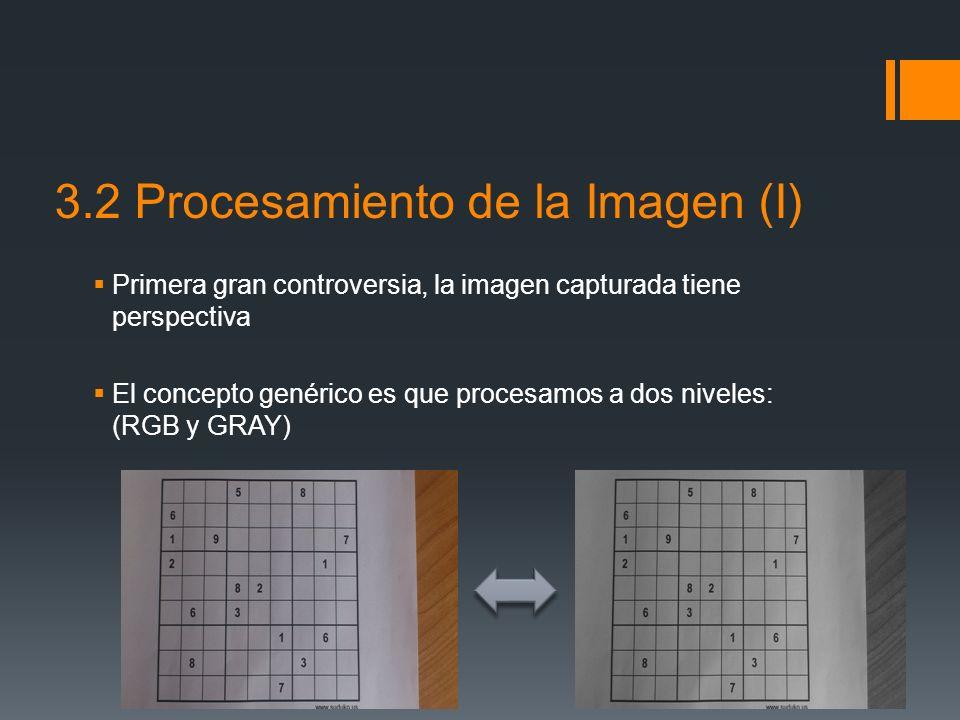 3.2 Procesamiento de la Imagen (I)