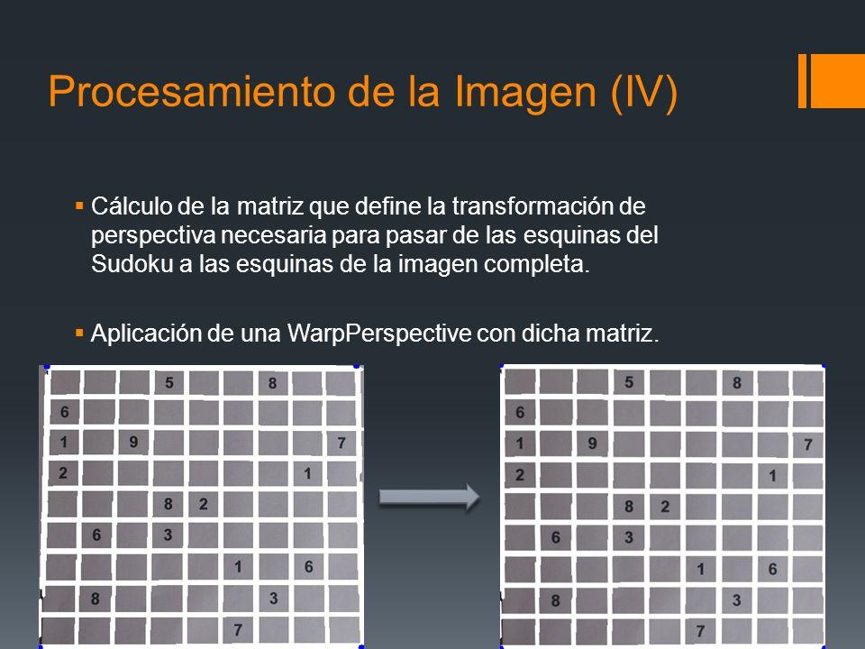 Procesamiento de la Imagen (IV)