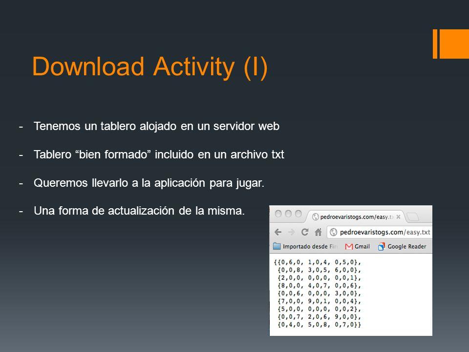 Download Activity (I) Tenemos un tablero alojado en un servidor web