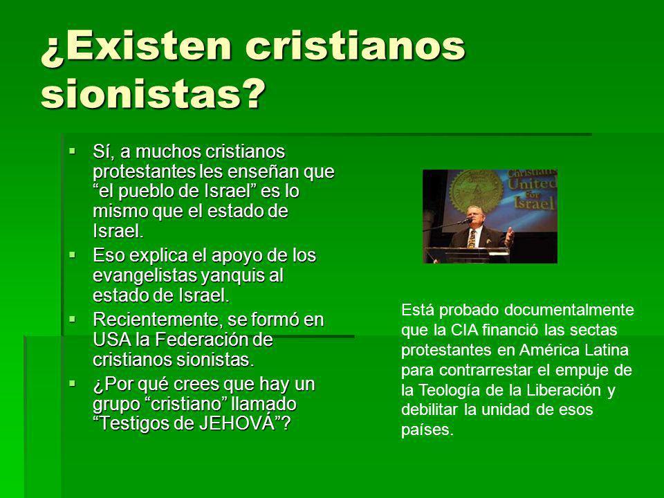 ¿Existen cristianos sionistas