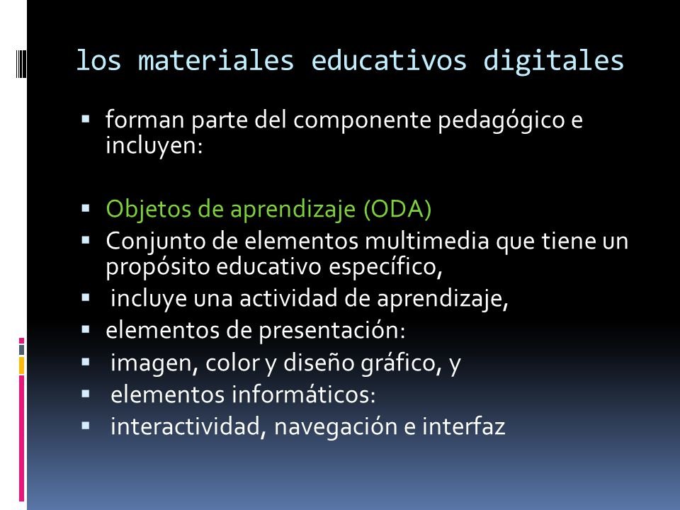 los materiales educativos digitales
