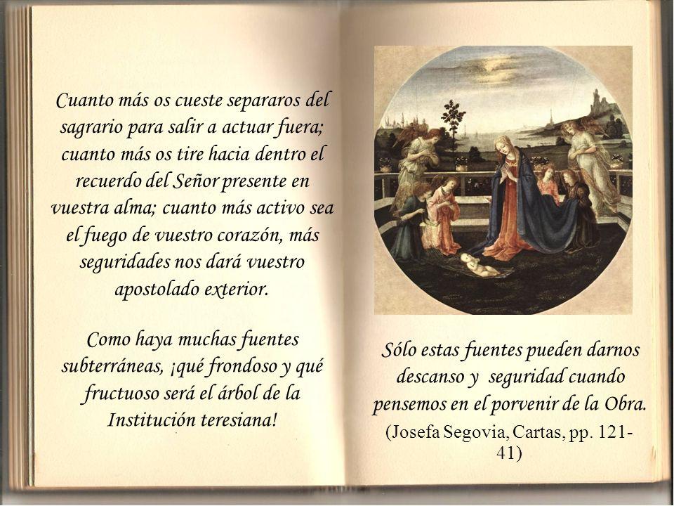 (Josefa Segovia, Cartas, pp. 121-41)