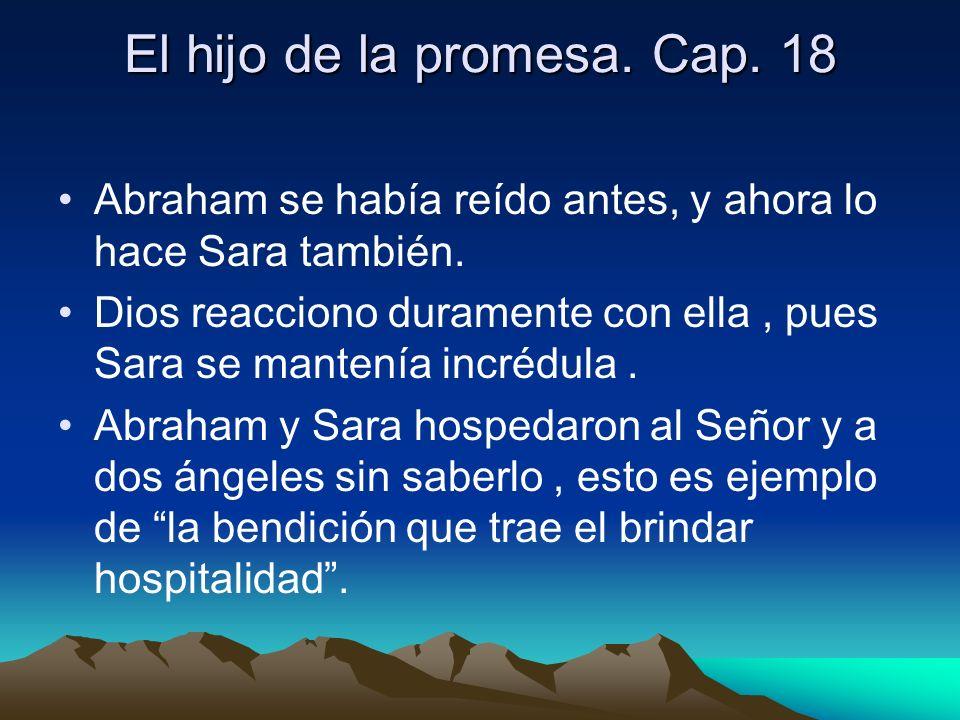 El hijo de la promesa. Cap. 18