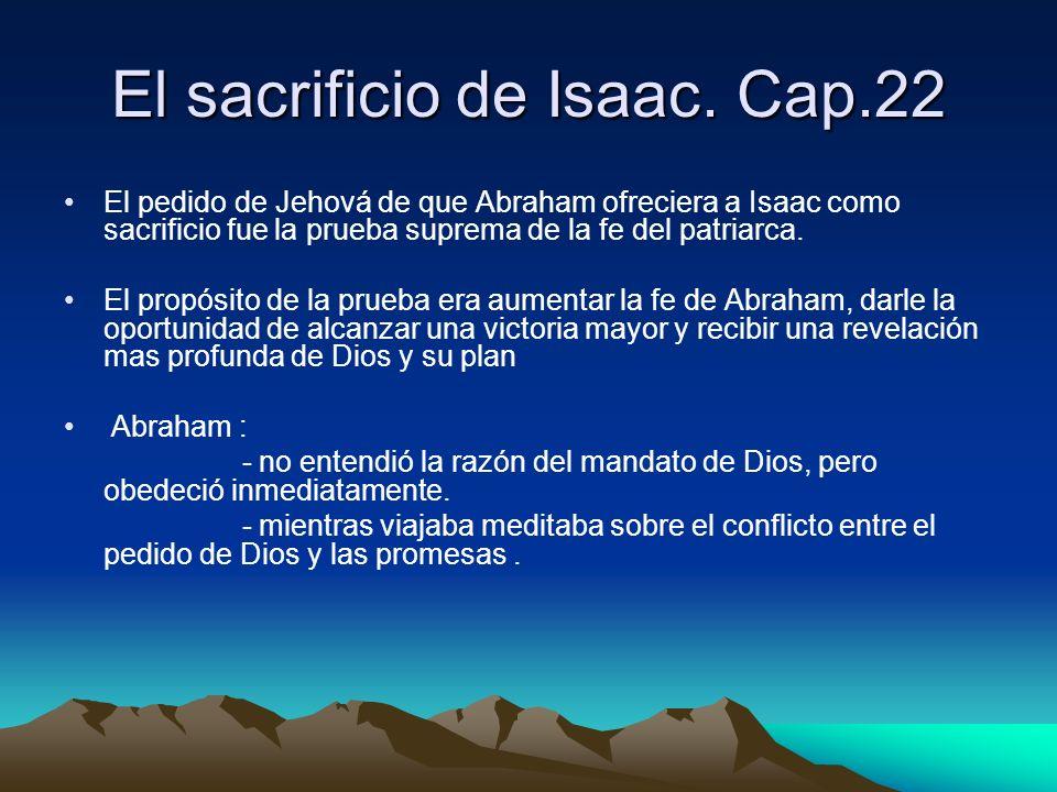 El sacrificio de Isaac. Cap.22