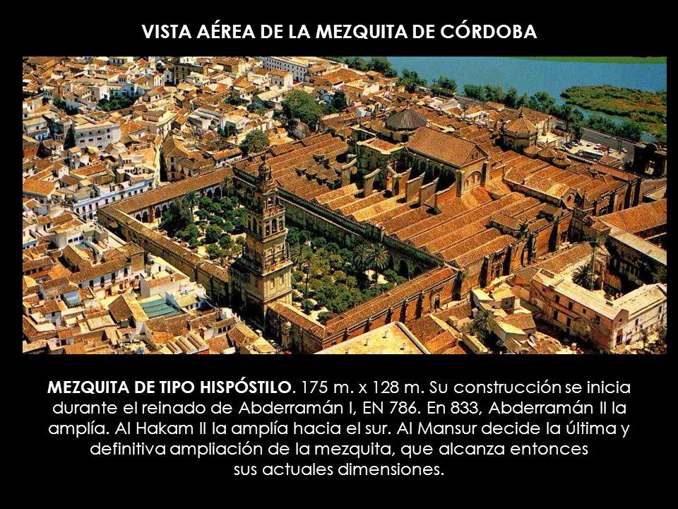 VISTA AÉREA DE LA MEZQUITA DE CÓRDOBA