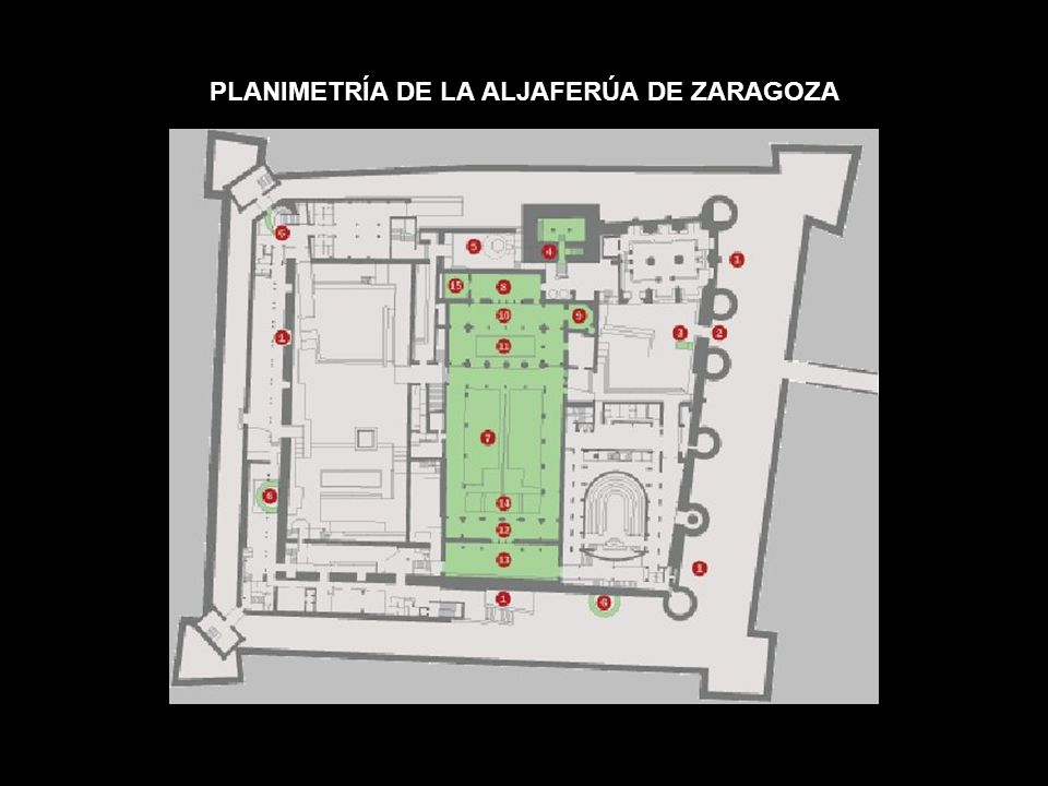 PLANIMETRÍA DE LA ALJAFERÚA DE ZARAGOZA