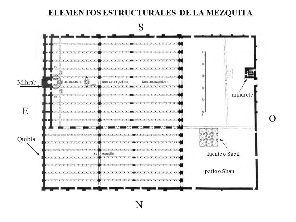 ELEMENTOS ESTRUCTURALES DE LA MEZQUITA