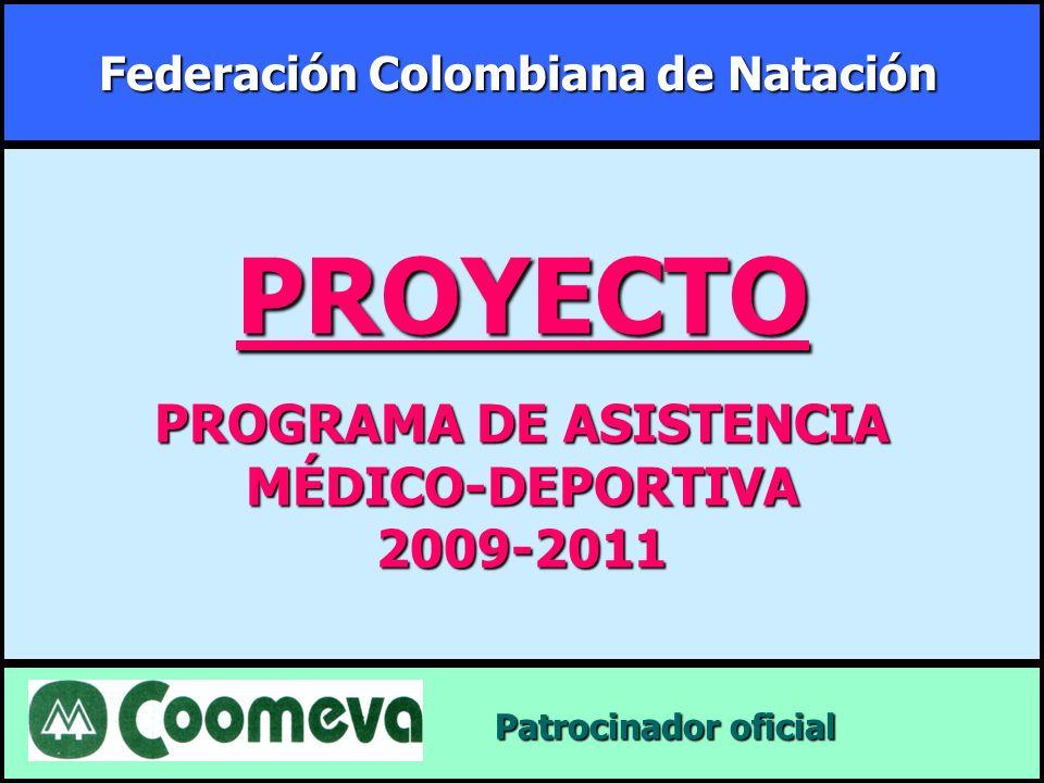 Federación Colombiana de Natación PROGRAMA DE ASISTENCIA