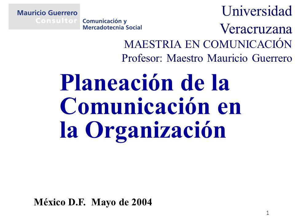 Planeación de la Comunicación en la Organización