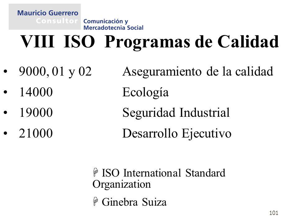 VIII ISO Programas de Calidad