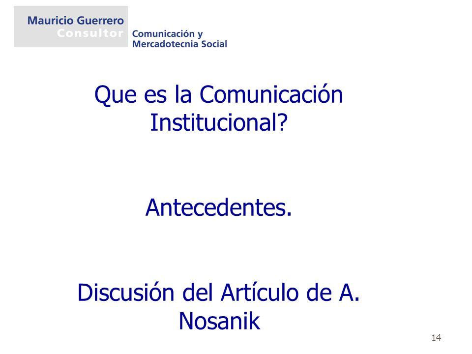 Que es la Comunicación Institucional
