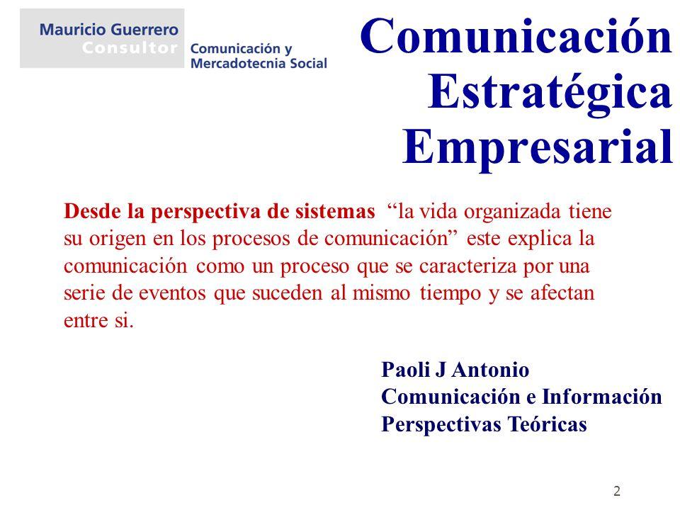 Comunicación Estratégica Empresarial