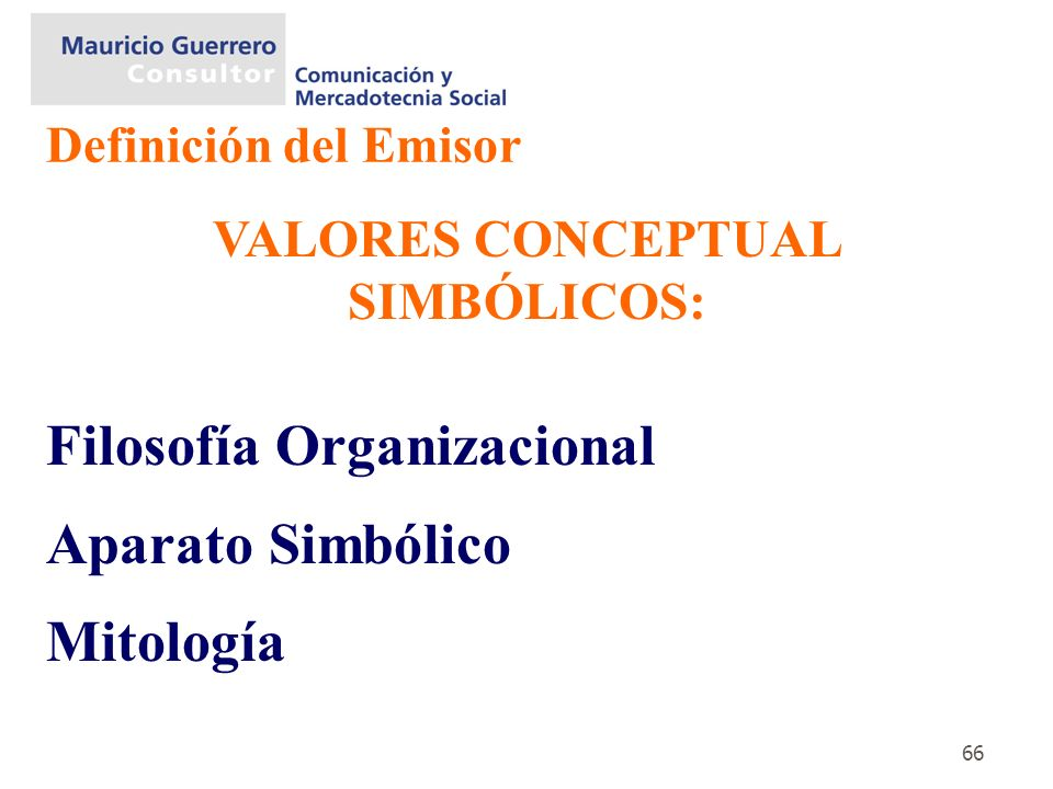 VALORES CONCEPTUAL SIMBÓLICOS: